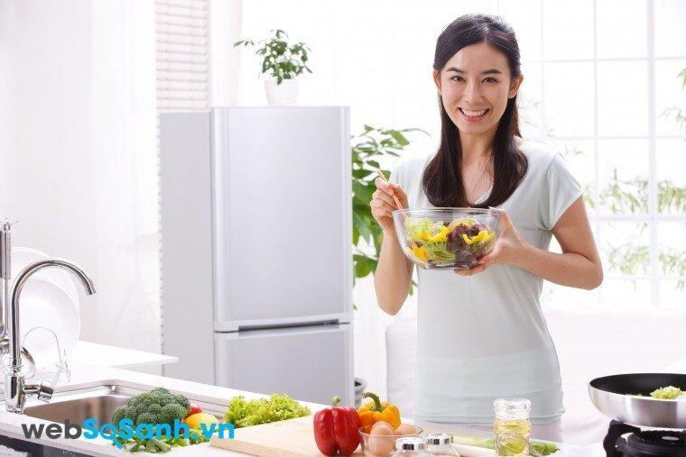 Tủ lạnh Sanyo SR-U21JN khử khí Etylen trong rau củ
