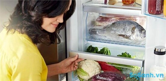 Tủ lạnh Sharp SJ-P435G-SL/BK giá rẻ, dung tích lớn