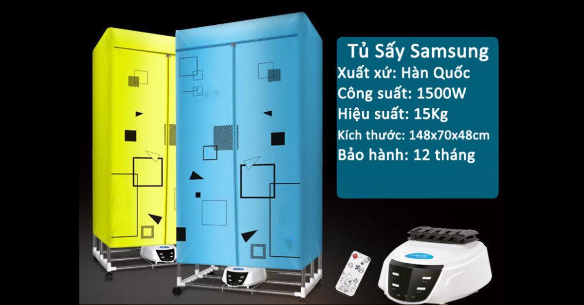 Tủ sấy quần áo Samsung tốt không ? Có mấy loại ? Giá bao nhiêu ?