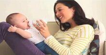 Tư thế cho bé bú bình đúng cách và tránh sặc sữa cho bé