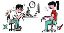 Tư thế ngồi làm việc với máy tính chuẩn nhất, tạo hiệu quả cao trong công việc