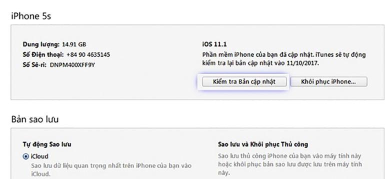 Cách hạ phần mềm iOS 12 xuống phiên bản iOS 11 đơn giản trên điện