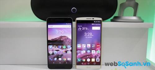 So sánh thiết kế và xây dựng của LG V10 và Nexus 6P