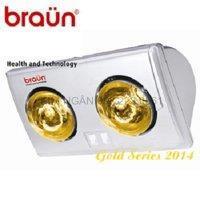 Đèn sưởi nhà tắm Kohn Braun KU02G - 2 bóng