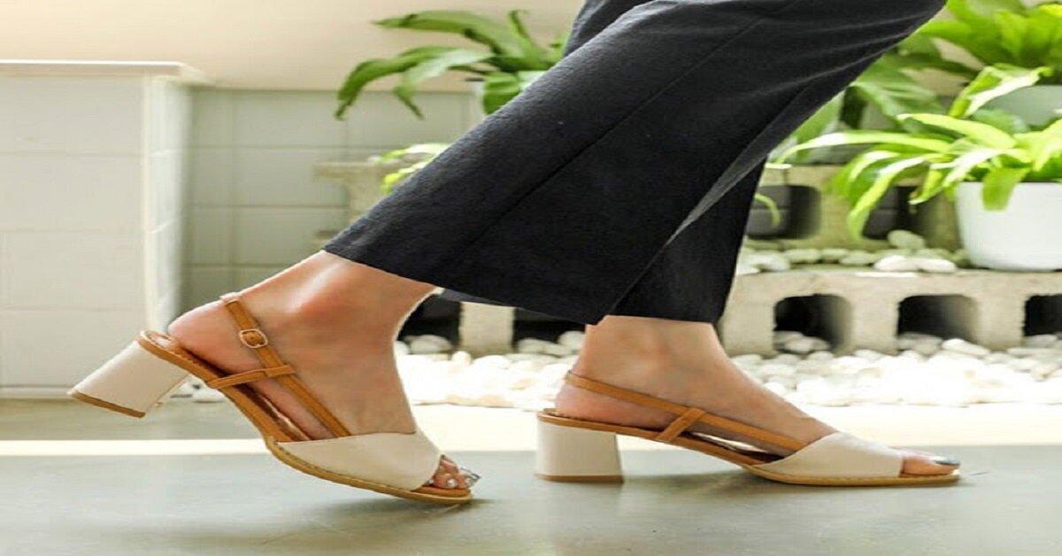 giày sandal đế cao gót vuông