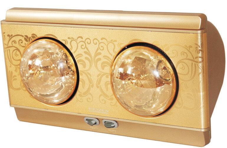 Đèn sưởi Heizen 2 bóng HE-2B (gold)