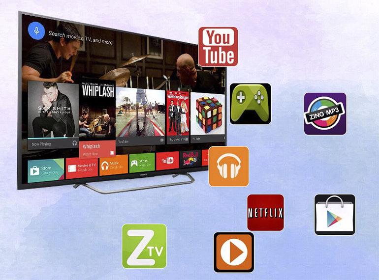 Hệ điều hành Android 7.0 trên smart tivi Sony - Kho ứng dụng phong phú cho người dùng