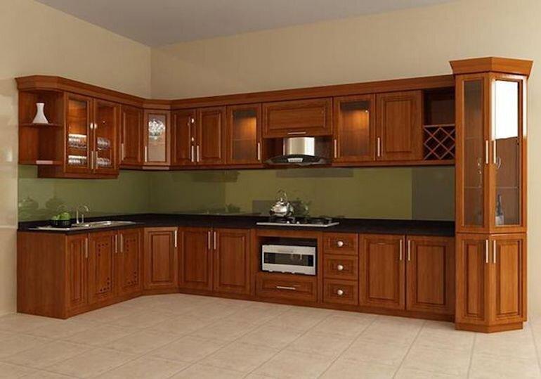 Đánh giá ưu, nhược điểm tủ bếp bằng gỗ