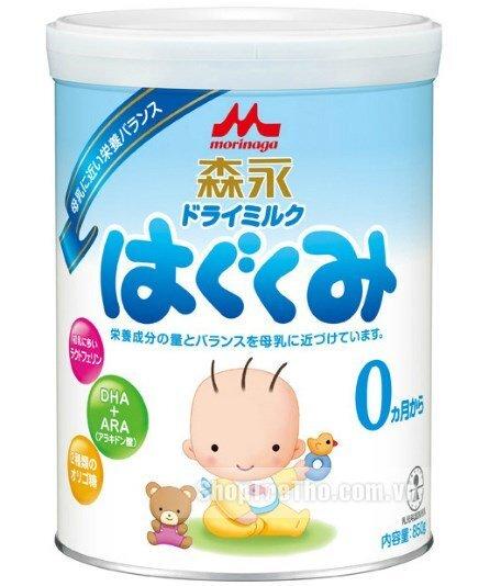 Sữa bột Morinaga số 0 - hộp 850g (dành cho trẻ từ 0-6 tháng tuổi)