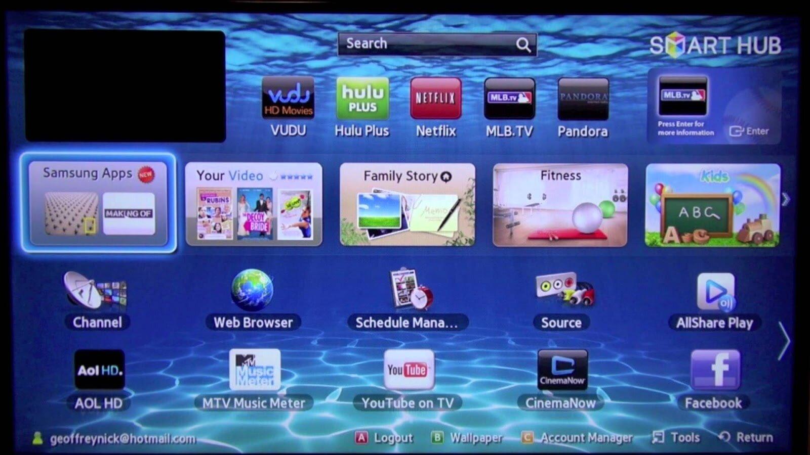 Smart Hub giúp người dùng dễ dàng tải ứng dụng cho smart TV Samsung