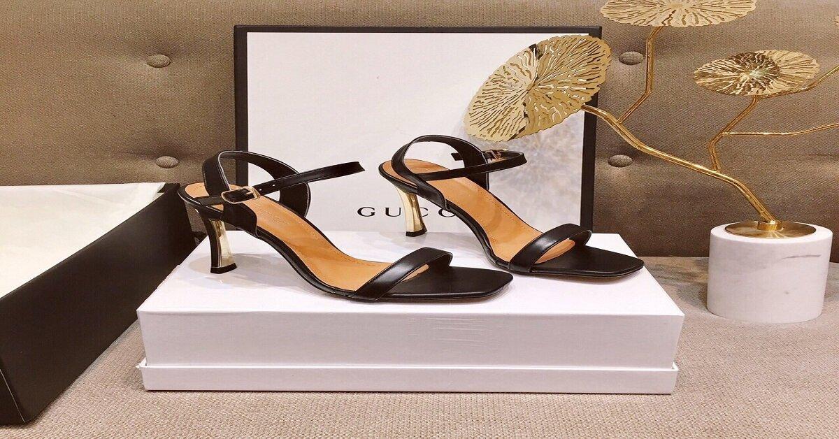giày cao gót sandal gucci
