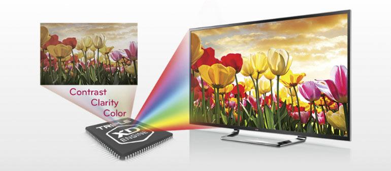 Tivi LG trang bị con chip xử lý hình ảnhLG Triple XD Engine