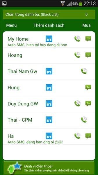 Ứng dụng chặn cuộc gọi và tin nhắn cho Android