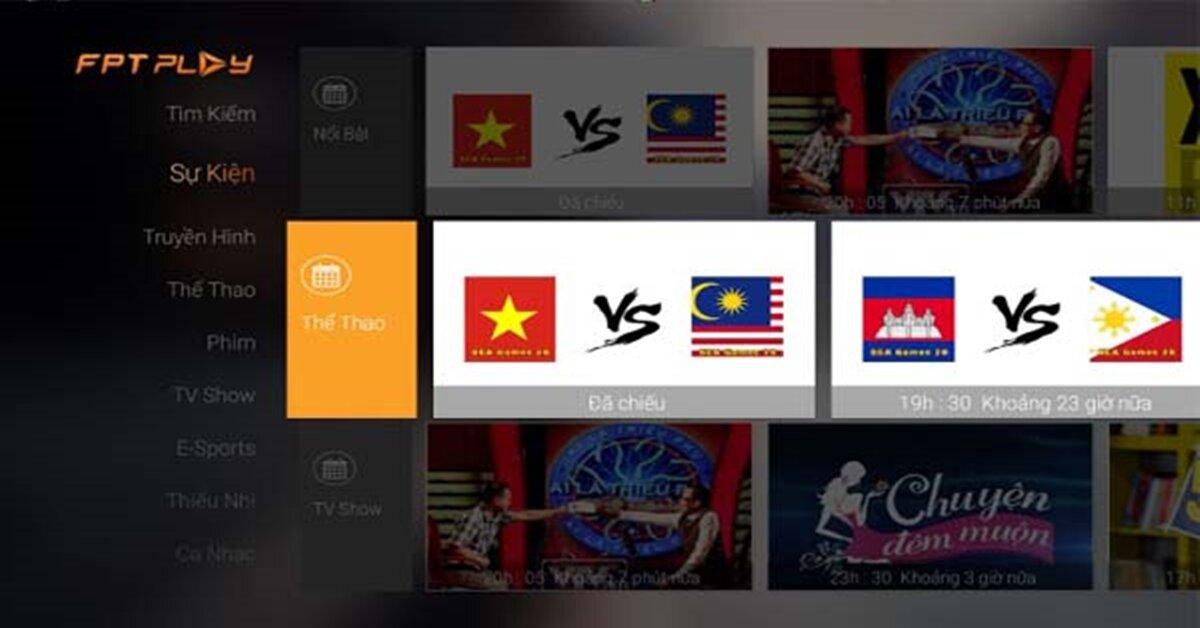 Ứng dụng xem bóng đá phổ biến trên smart tivi và internet tivi