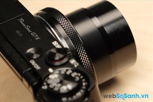máy ảnh G7 X có thân hình nhỏ gọn được làm hoàn toàn bằng hợp kim chắc chắn