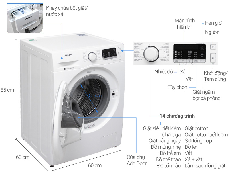 máy giặt samsung WW80K5410WW