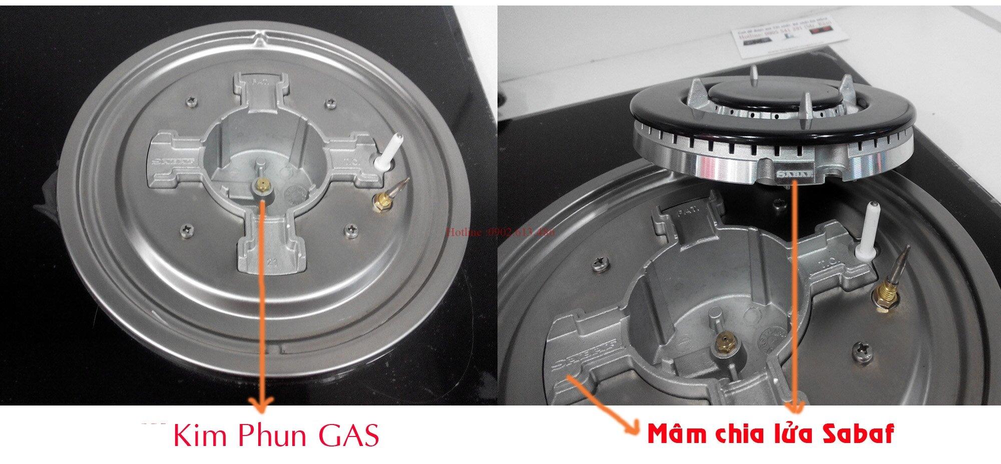 Ưu nhược điểm của mâm chia lửa Sabaf trên bếp gas Giovani, Rinnai