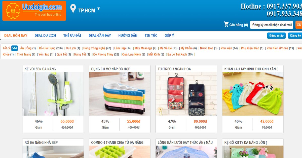 Uudaigia.com bán hàng gia dụng giá rẻ, dịch vụ tận tâm