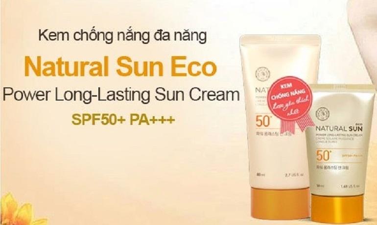 Kem chống nắng The Face Shop Natural Sun Eco Power Long Lasting Sun Cream SPF 50 PA+++