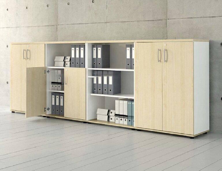 Tủ đựng tài liệu thấp giúp tiết kiệm tối đa không gian và diện tích văn phòng