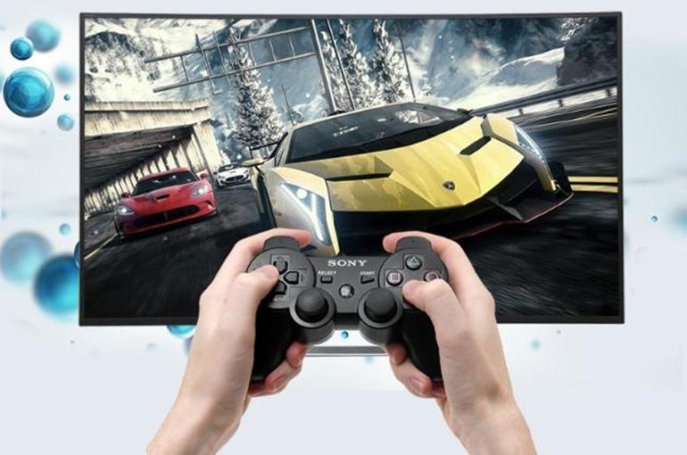 tay cầm chơi game cho smart tivi Sony 43 inch KDL 43W800C