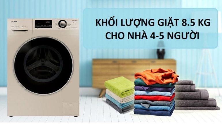Máy giặt nước nóng Aqua Inverter 8.5 kg AQD-DD850A (N2)