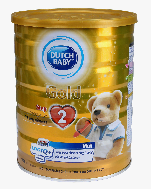 Sữa bột Dutch Lady Cô gái Hà Lan Gold Step 2 - hộp 900g (dành cho trẻ từ 6 - 12 tháng tuổi)