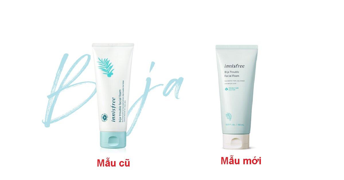 Review chi tiết sữa rửa mặt trị mụn Innisfree Bija Anti Trouble Facial Foam