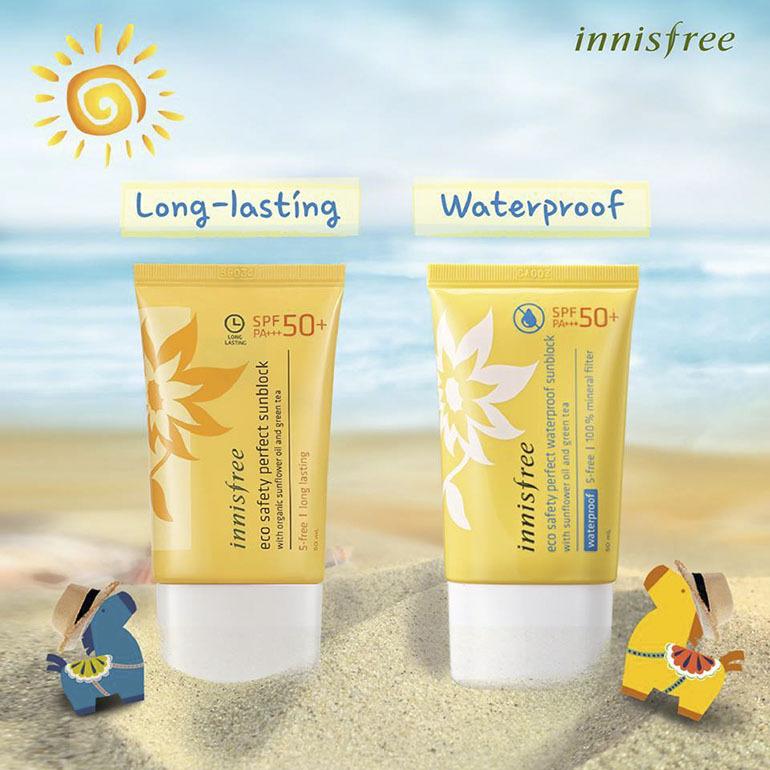 Kem chống nắng cho da mặt Innisfree Perfect Waterproof với tinh chất từ thiên nhiên bảo vệ và chăm sóc da hiệu quả từ sâu bên trong
