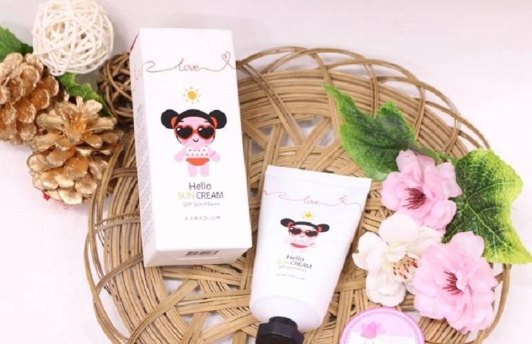 Kem chống nắng Karadium Pucca Love Edition Hello Sun Cream