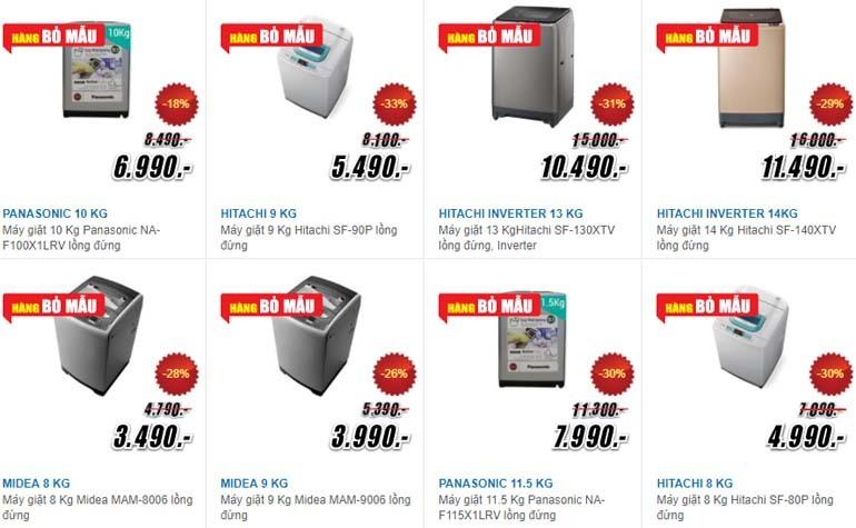 máy giặt giảm giá