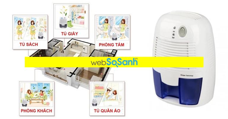 Máy hút ẩm mini giá rẻ nào tốt cho phòng em bé từ 10m2 - 15m2 ?