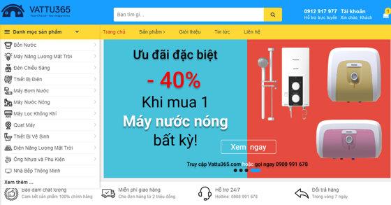 Vattu365.com – Trang TMĐT hàng đầu về các thiết bị điện nước tại Việt Nam