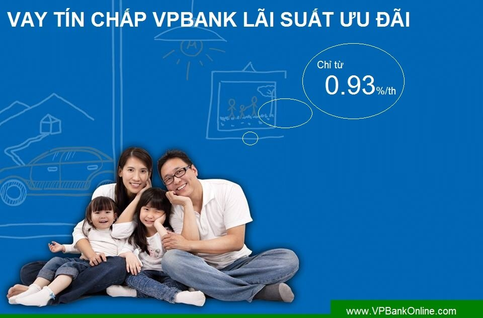 Vay tín chấp cá nhân và mức tính lãi suất của ngân hàng VPBank