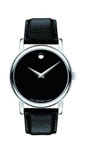 Đồng hồ nam Movado 2100002 Museum màu đen bằng thép không gỉ