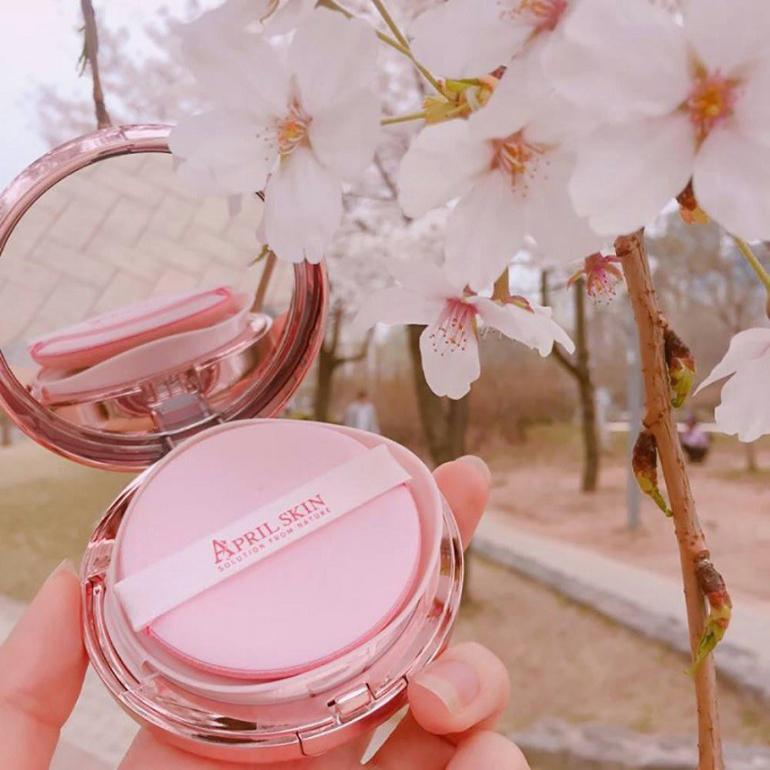phấn nước April Skin Magic Pink