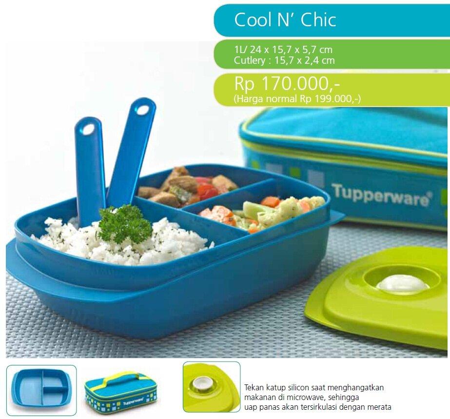 Sản phẩm hộp đựng cơm Cool N' Chic của Tupperware