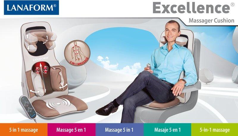 Đệm massage 3D hồng ngoại Lanaform Excellence
