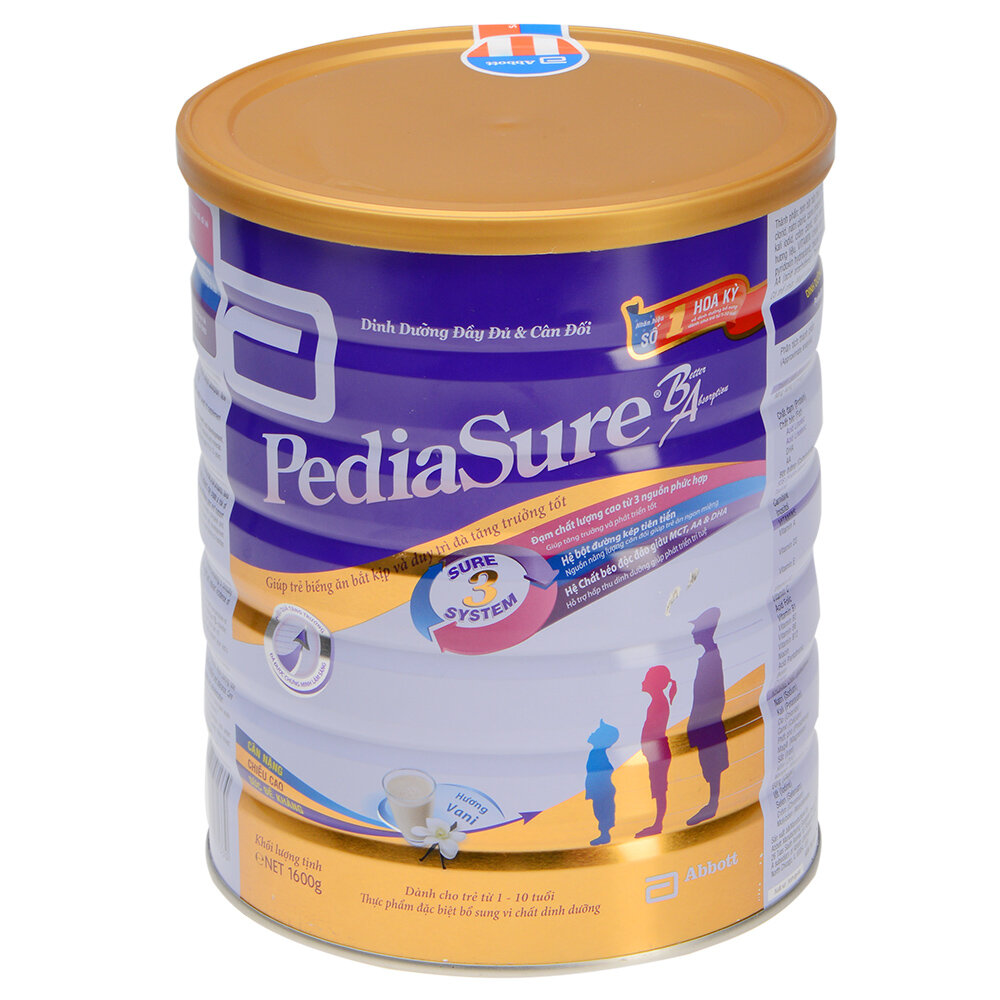 Vì sao nên chọn sữa bột Abbott Pediasure B/A cho bé biếng ăn?