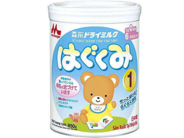 Vì sao nên chọn sữa bột Morinaga Hagukumi số 1 cho bé sơ sinh