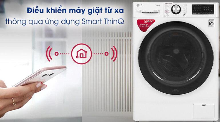 Điều khiển được từ xa thông qua ứng dụng Smart ThinQ cài đặt được trên điện thoại