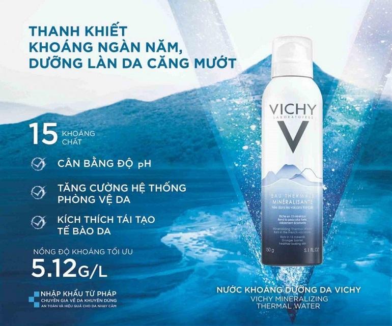 Xịt khoáng dưỡng ẩm Vichy