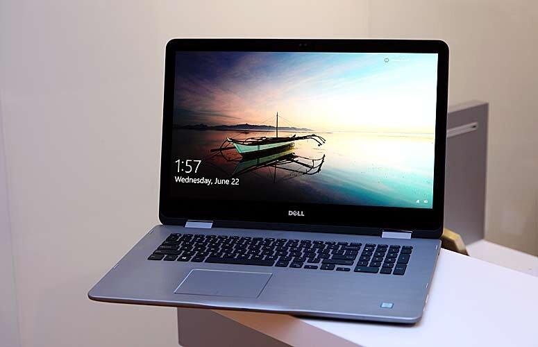 Máy laptop Dell có thiết kế bản lề chắc chắn, gấp mở linh hoạt nhiều góc độ