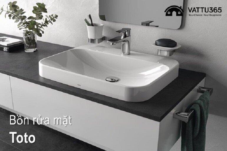 Nên chọn chậu rửa mặt Toto phù hợp với không gian phòng tắm