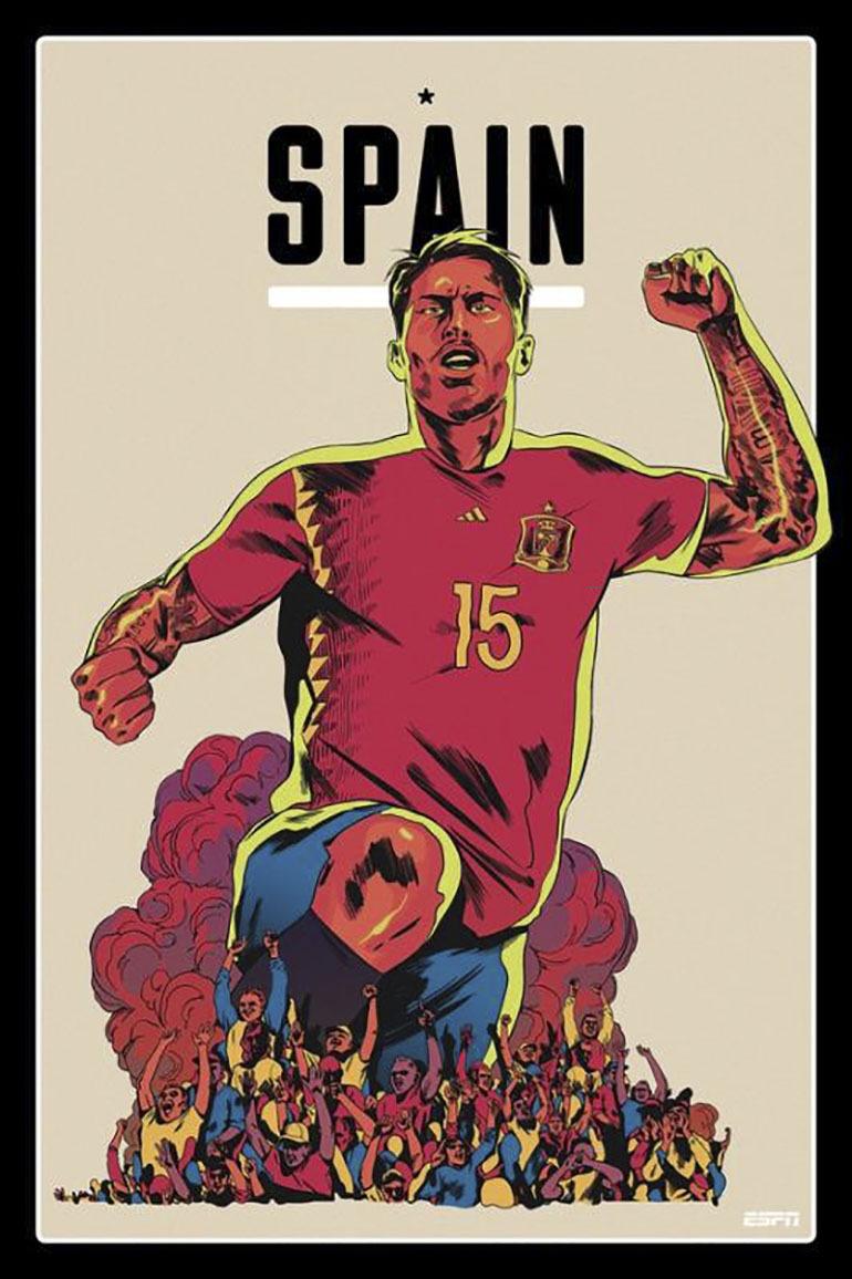 Đối với Tây Ban Nha vẫn lối đá quen thuộc tiki kaka huyền thoại, nhưng 50% sức mạnh của đội bóng thuộc về những pha tiểu sảo của ông thần Ramos