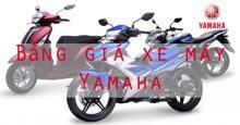 Bảng giá xe máy Yamaha cập nhật thị trường tháng 1/2018