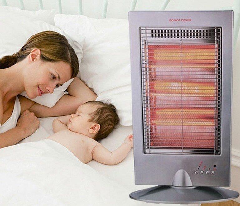 Lợi ích khi sử dụng đèn sưởi cho trẻ sơ sinh vào mùa đông