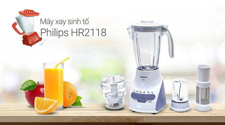 Máy xay sinh tố Philips HR2118 600W 1.5L