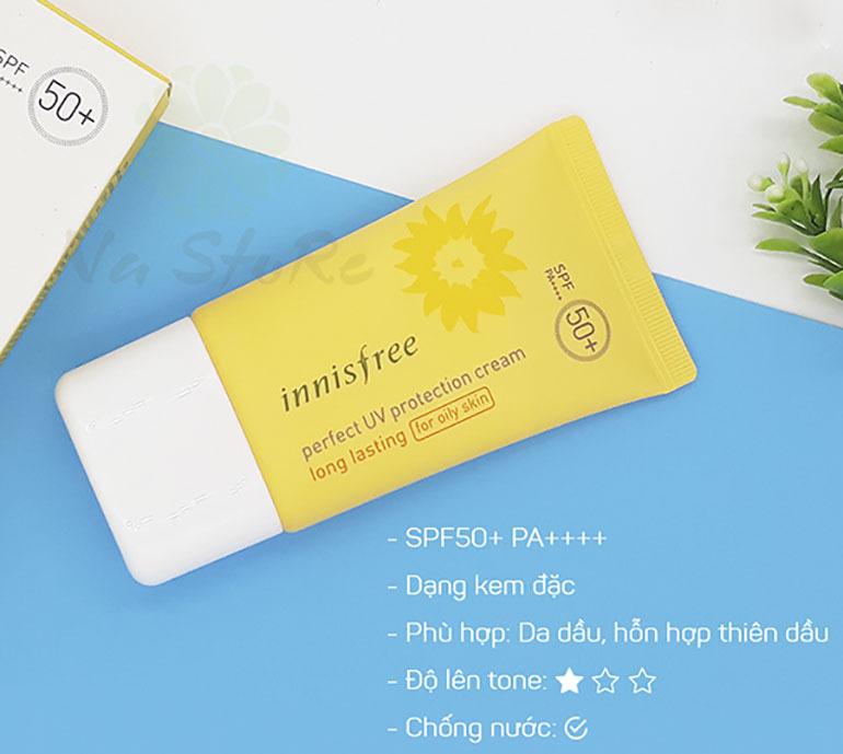 Kem chống nắngPerfect UV Protection Cream Long Lasting SPF 50+ PA+++ được triết xuất từ tinh chất hoa hướng dương giúp bảo vệ và chăm sóc da hiệu quả dưới cái thời tiết nắng nóng của mùa hè