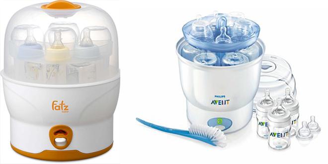 Tiệt trùng bình sữa bằng hơi nước nhờ sử dụng máy tiệt trùng bình sữa chuyên dụng